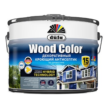 """Dufa"" Кроющий антисептик  WOOD COLOR  белый база 1 2,5л"